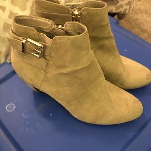 Gray Sam & Libby ankle boots
